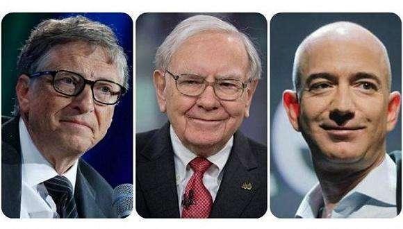 美国前三大富豪身家可敌1.6亿人财富总和