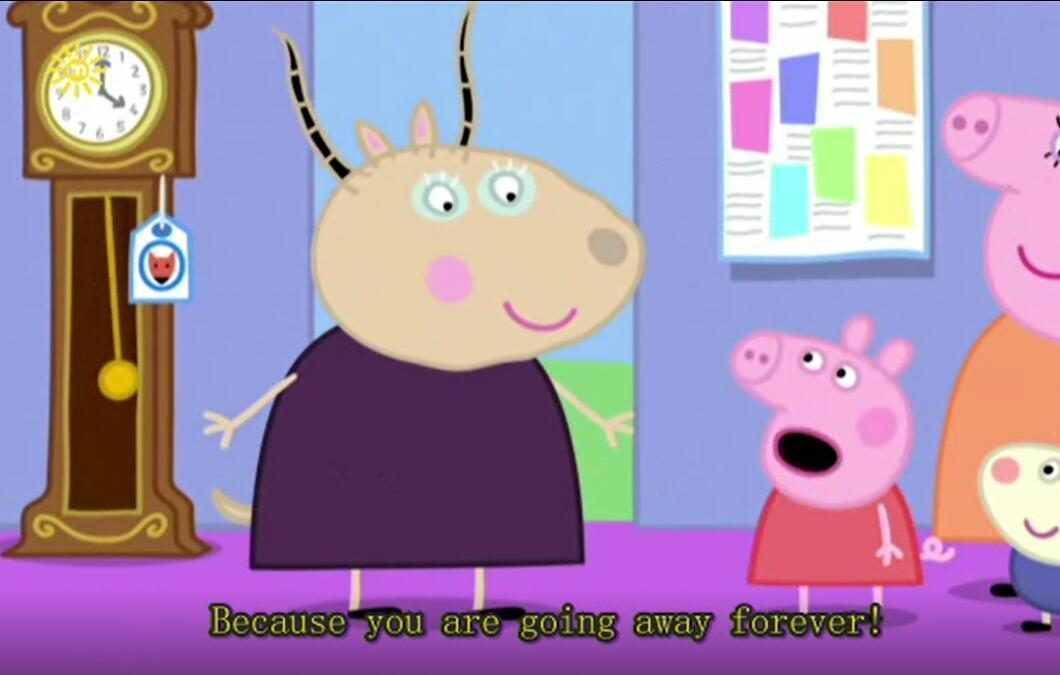 小猪佩奇是一只非常可爱的小粉红猪,她与弟弟乔治、爸爸、妈妈快乐地住在一起。小猪佩奇最喜欢做的事情是玩游戏,打扮的漂漂亮亮,渡假,以及住在小泥坑里快乐的跳上跳下!除了这些,她还喜欢到处探险,虽然有些时候会遇到一些小状况,但总可以化险为夷,而且都会带给大家意外的惊喜!!