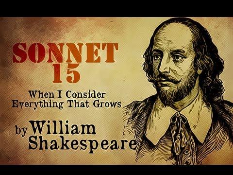 莎士比亚十四行诗 15