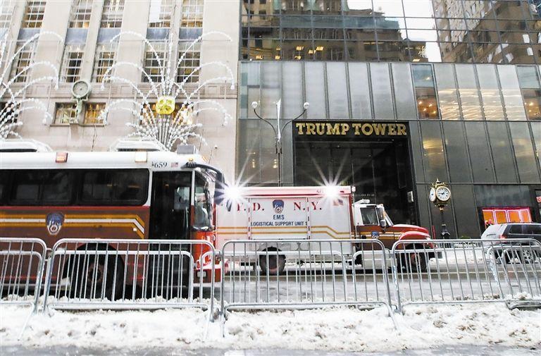 纽约特朗普大厦突发火灾.jpg