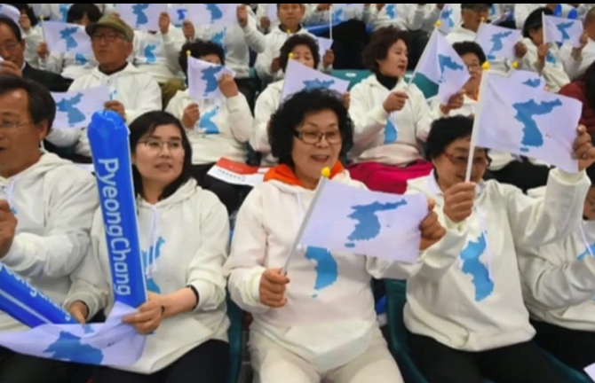 朝韩同意举统一旗帜参加冬奥会