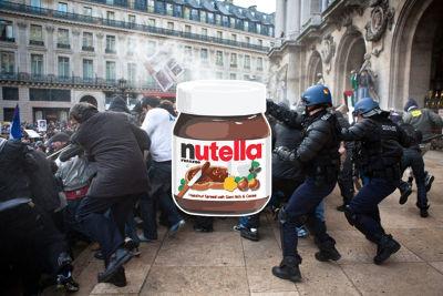 法国能多益榛子酱大暴乱