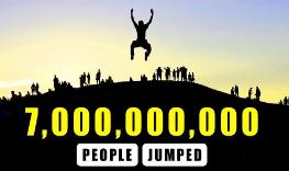 地球上所有人一起跳会怎样?