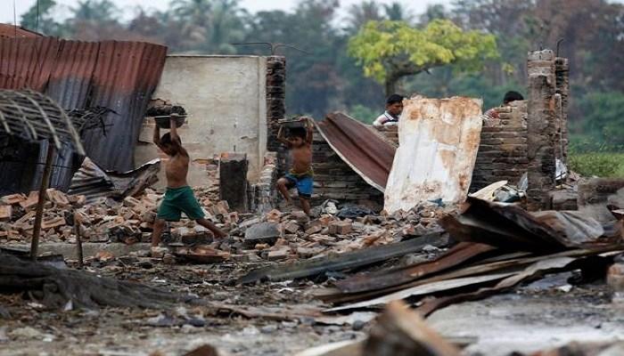 缅甸政府夷平若开邦 重建军事基地