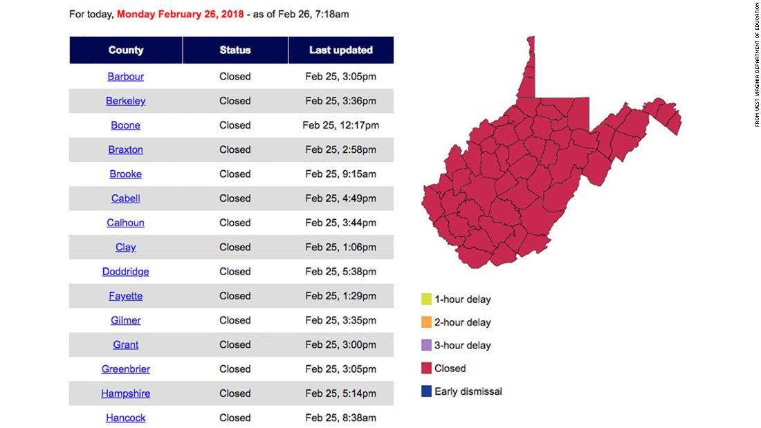 西弗吉尼亚州所有公立学校关闭.jpg