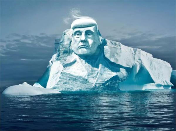 滑稽! 特朗普的脸将被雕在北极冰山上!