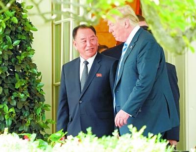 特朗普会见朝鲜高官金英哲.jpeg