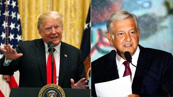 美国总统特朗普(左)致电祝贺墨西哥新当选总统洛佩斯.jpeg