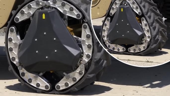 美军研发出可变形车轮 可适应95%的地形