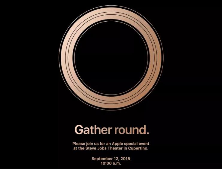 2018年苹果新品发布会定于9月12日举行