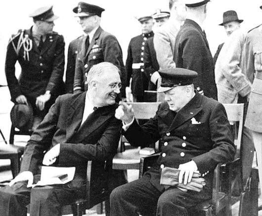 罗斯福与丘吉尔