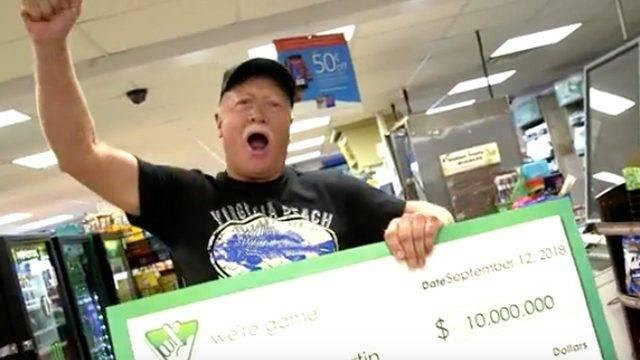 幸运! 一名男子因下雨而中了1000万美元的彩票!