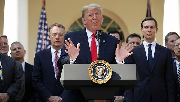 特朗普出席新闻发布会介绍美加墨贸易协定.jpeg