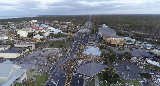 """飓风""""迈克尔""""横扫佛州.jpg"""