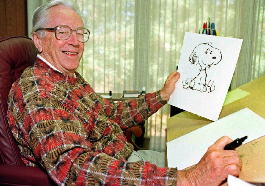 史努比系列漫画创始人—查尔斯·舒尔茨.jpg