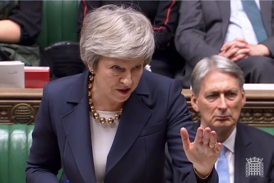 """英国首相开启为期5天""""脱欧""""辩论.jpg"""