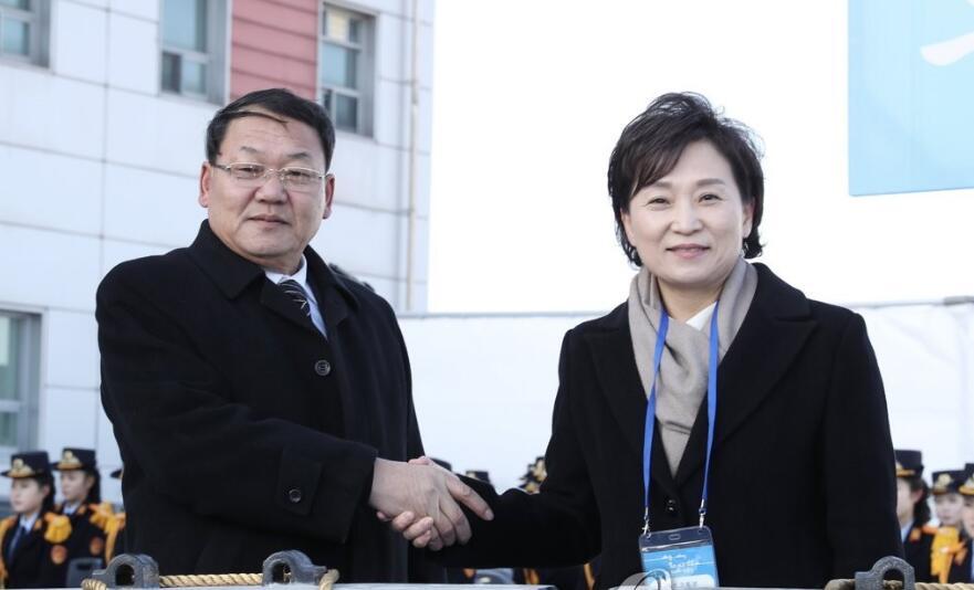 朝韩代表出席铁路对接开工仪式.jpg
