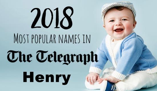 亨利成为2018年英国最受欢迎的男婴名