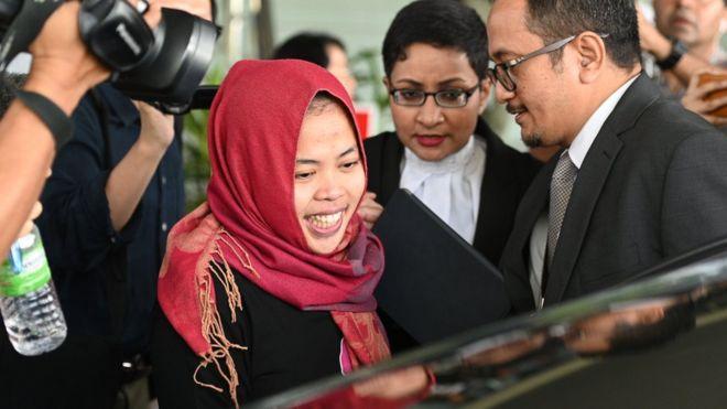 涉嫌毒杀金正男的印尼女子获释.jpg